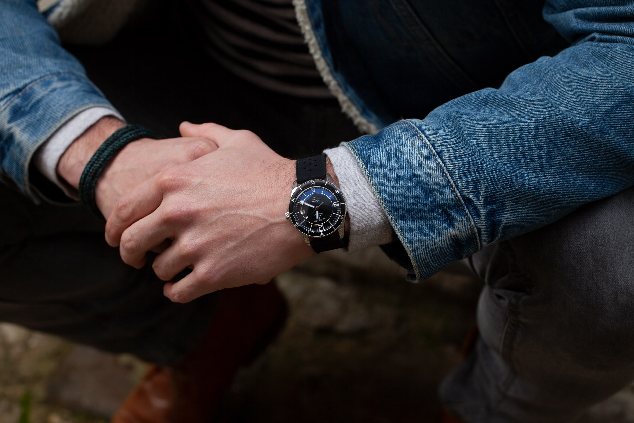 Focus on the watch on a wrist